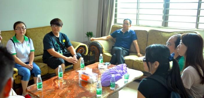 香港社工组织率中学生来我司海月学校交流