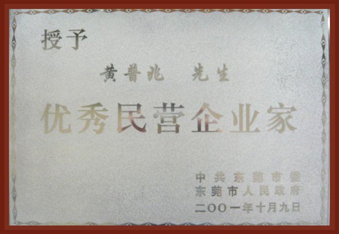 优秀民营企业家黄普兆